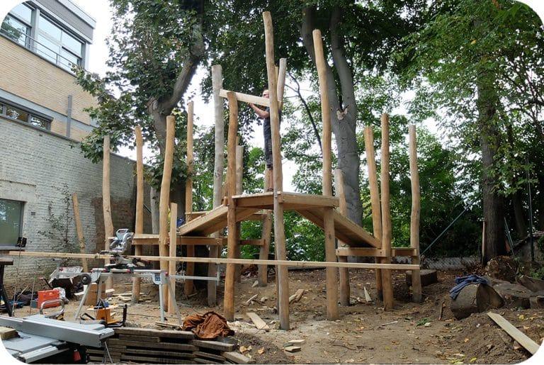 Speeltuin op maat in opbouw